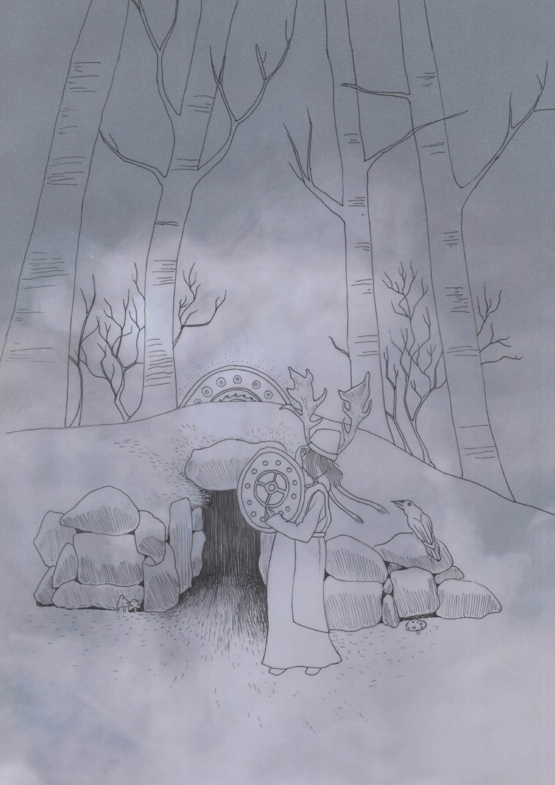 Yule Midwinter Illustration Solawende 2018
