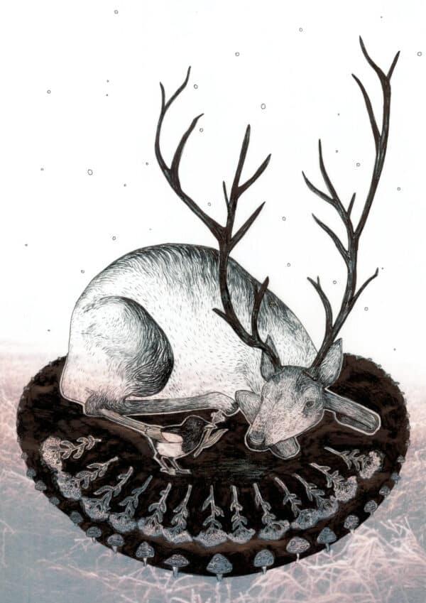 Yule Midwinter Illustration Solawende Reindeer 2017